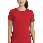 Ladies Dri FIT Cotton/Poly Scoop Neck Tee