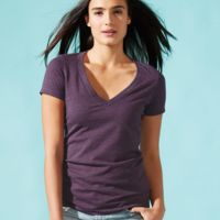 Ladies' CVC V-Neck T-Shirt Thumbnail